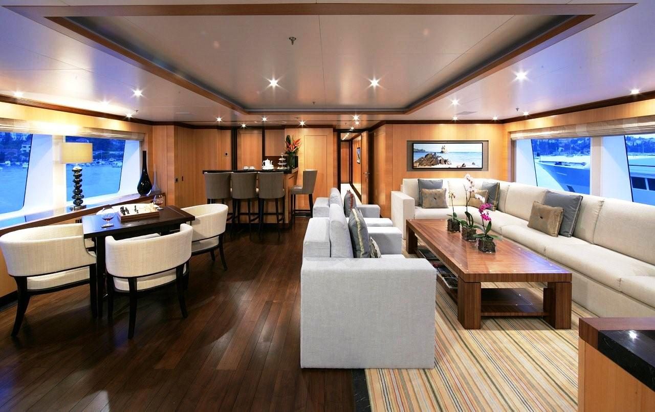 View large version of image: Contemporary Motor Yacht Interior  AMNESIA