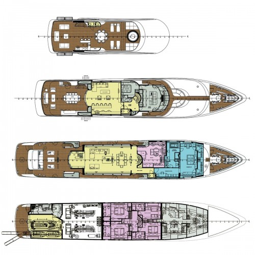 View large version of image: Deck PLan T056 Motor Yacht
