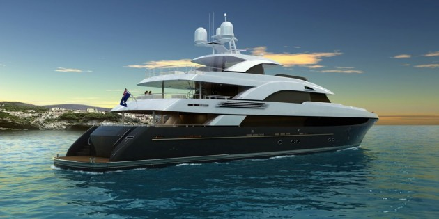 View large version of image: T056 - Tri-deck motor yacht by Trinity Yachts