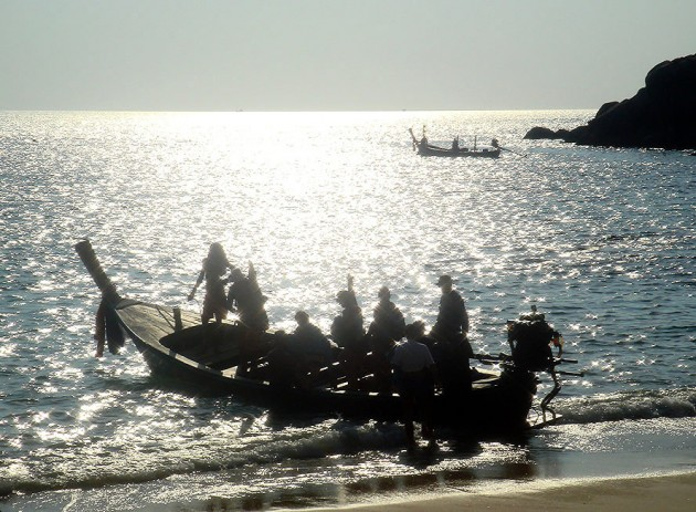 View large version of image: Thailand Traditional Boat at Sunset