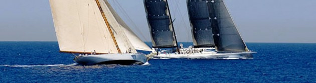 View large version of image: Classic Yacht Lulworth and Senso One Racing