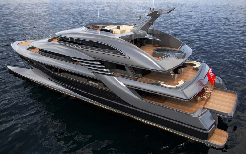 View large version of image: The 'New Zealand Yachts' 50 meter Wavepiercer