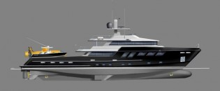 View large version of image: New expedition (explorer) motor yacht design in collaboration with Platinum Marine Services and Bray Yacht Design and Research