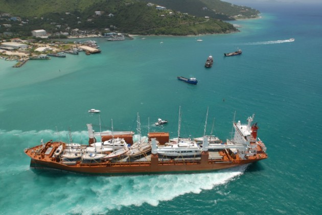 View large version of image: Yacht transport across the Altantic by Sevenstar