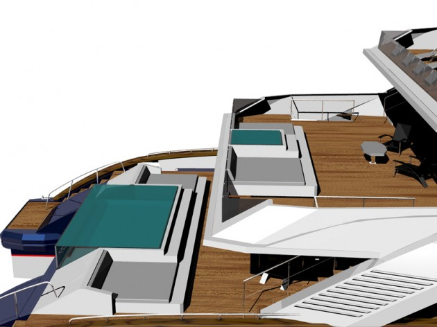 View large version of image: The tri aft deck view of the CAT 50