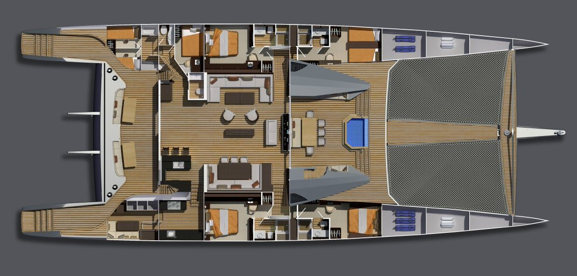 110 Luxury catamaran Interior Layout – Superyachts News, Luxury Yachts, Charter & Yachts for Sale.
