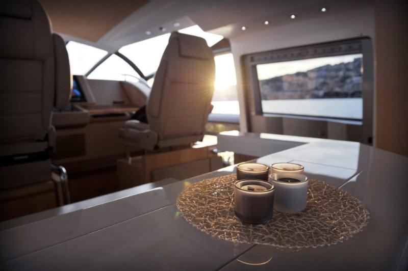 Image: The Bridge Helm of the Baia One Hundred Motor Yacht