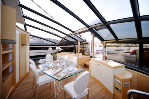 View large version of image: Dining Yacht Design Baia One Hundred