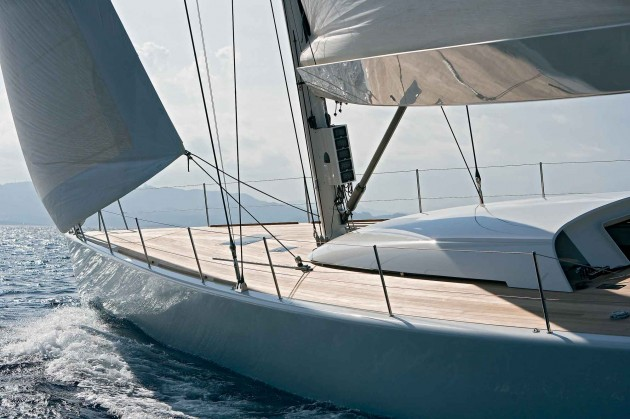 View large version of image: 60 foot Sailing Yacht Deck Design