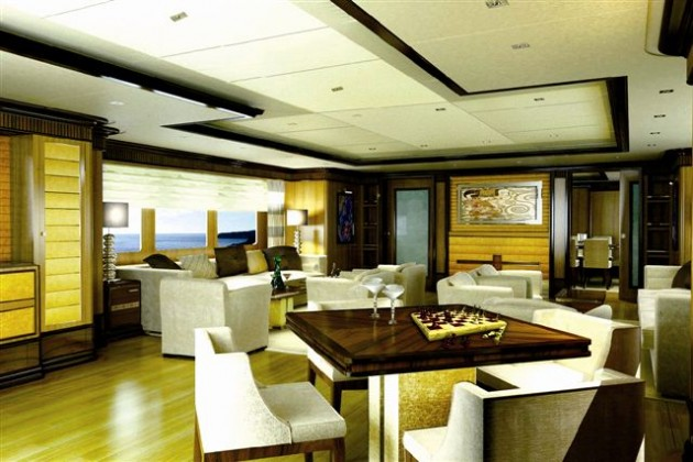 View large version of image: Benetti Motor yacht MEAMINA's Saloon