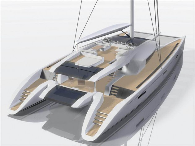 View large version of image: Aft View Luxury Catamaran CODE E