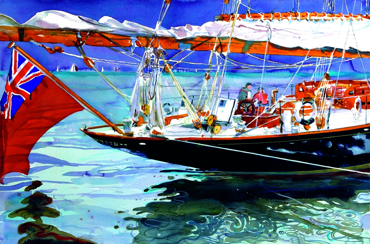 View large version of image: Classic Yacht Painting of 'Mariette'