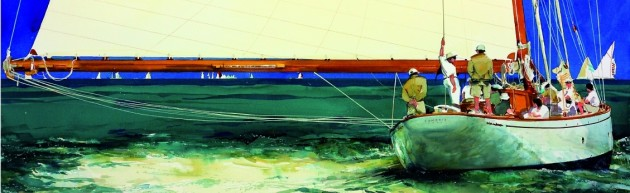 View large version of image: Classic Sailing Yacht Painting
