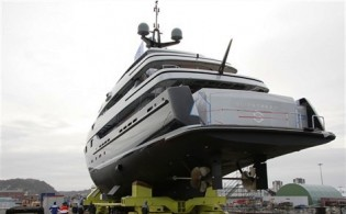 View large version of image: 60 meter Motor yacht SLIPSTREAM launched at CMN