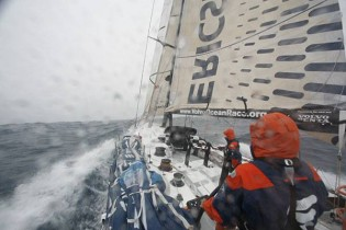 View large version of image: Day 25 Volvo Ocean Race: Hard Driving As Ericsson 3 Extends Lead