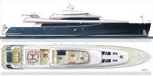 View large version of image: Barracuda 70m Motor Yacht Design