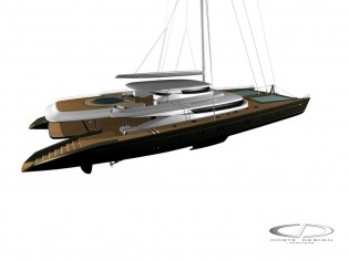 View large version of image: Blue Coast Yachts Blue Coast 165' Catamaran Design
