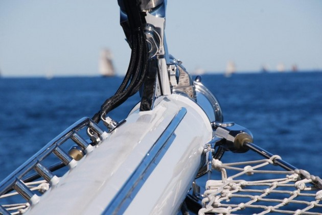 View large version of image: S/Y METEOR Bowsprit Picture