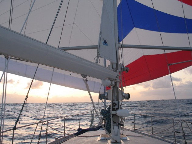 View large version of image: Downwind sailing - the AMEL way