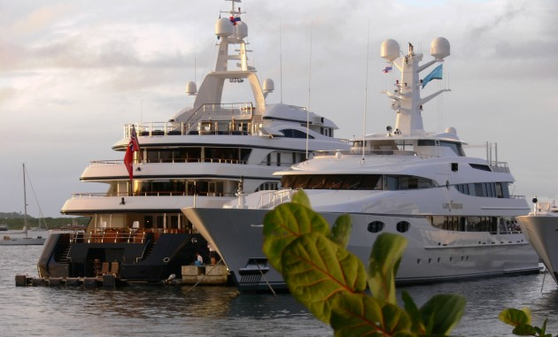 View large version of image: yachts lady sheradin and revierie