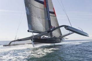 View large version of image: America's Cup 2010: Multi-Hull Sailing Monsters
