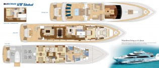View large version of image: Browards 128 ft Global yacht