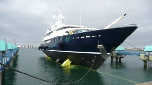 View large version of image: Superyacht Cloud 9 Launched.