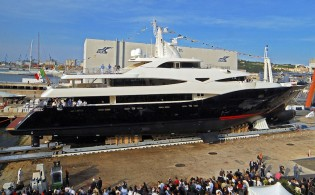 View large version of image: Yacht BLUE EYES Launched by CRN