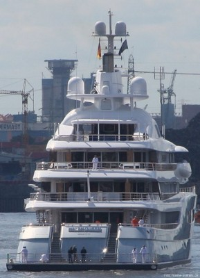 View large version of image: Blohm & Voss Yacht Mayan Queen IV