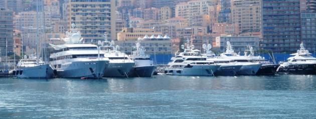 View large version of image: Superyachts - Monaco Grand Prix