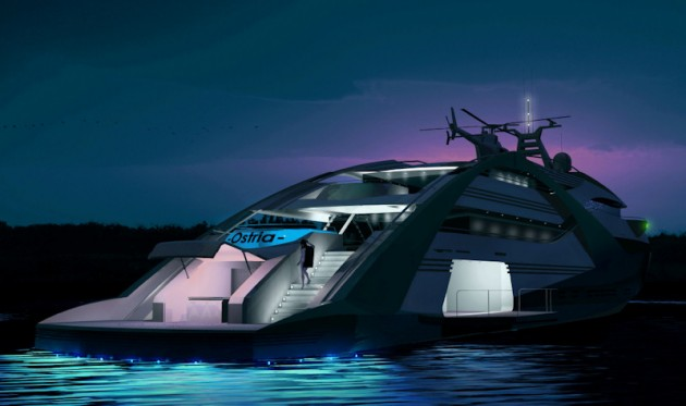 View large version of image: Ostria motor yacht aft