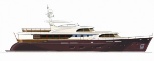 View large version of image: Cyrus Yachts 34m – Latest Generation Retro Styled Motor Yacht