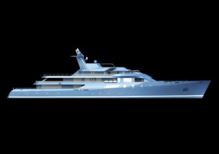 View large version of image: 86 m German Frers World Expedition Yacht