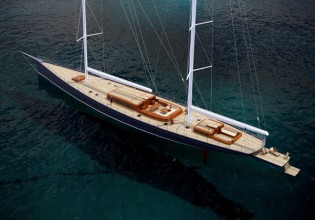View large version of image: 62 m Panamax Sailing Yacht by German Frers