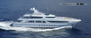 View large version of image: Omega LV4500 45m Superyacht Design