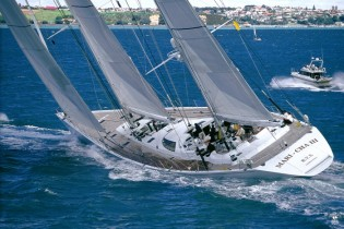 View large version of image: Top 18 sailing yachts in the Horus superyacht cup 2009.