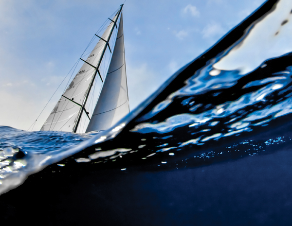 The high performance sailing yacht Nautor Swan 90 is a racing yacht through ...