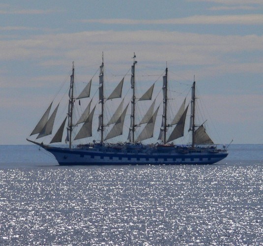 View large version of image: A Tall Ship Off Monaco
