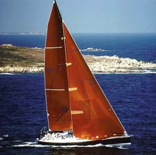 View large version of image: Sailing yacht My Song leads Loro Piana Superyacht Regatta
