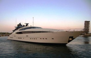 View large version of image: Palmer Johnson launches motor yachts ONENESS & BLUE ICE.