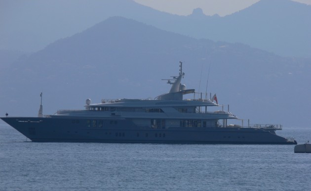 View large version of image: Superyacht silhouette