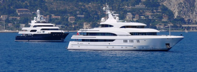 View large version of image: Superyachts Cap Ferrat, France