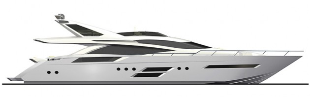 View large version of image: Dominator 780 motor yacht design