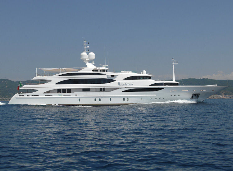 View large version of image: 59m Motor Yacht Lady Lara Launched by Benetti