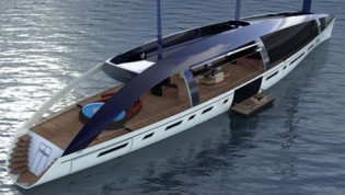 View large version of image: Soliloquy green yacht : Welcome to the future