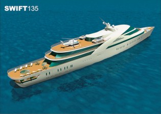 View large version of image: Megayacht Swift135 by Abu Dhabi MAR