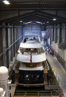 View large version of image: Motor Yacht BLIND DATE is Launched by Heesen