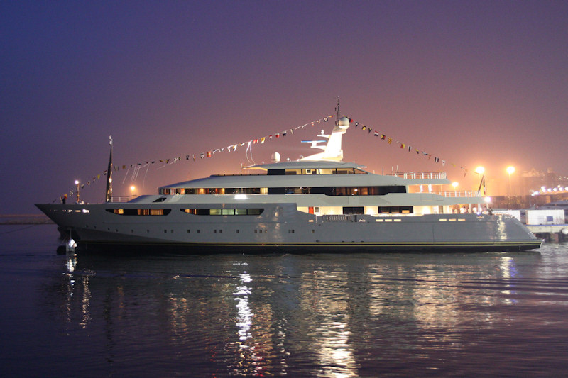 View large version of image: CRN Launches 72m motor yacht CLARENA II