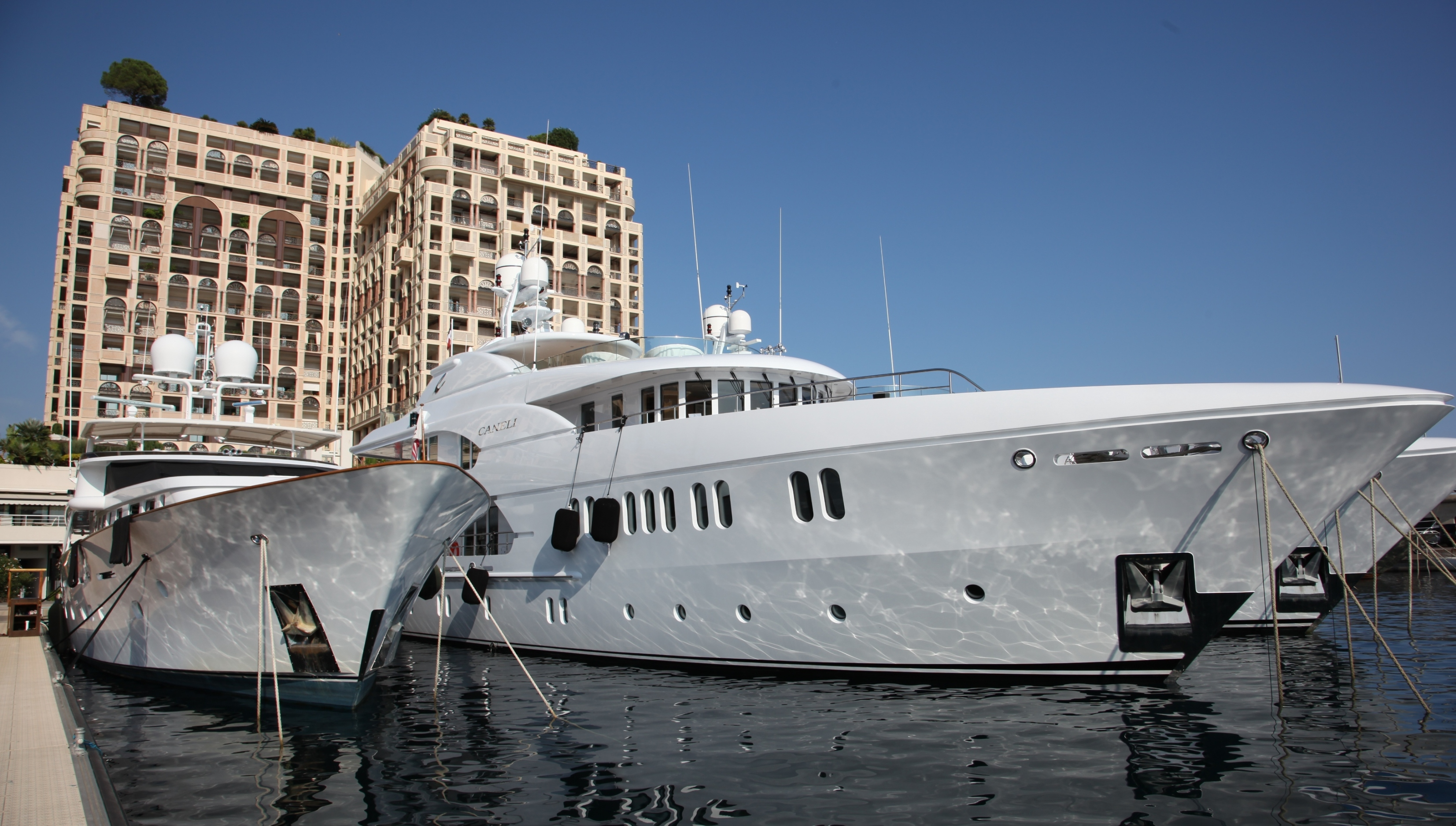 Motor yacht WATERLILY and CANELI are 44 m (143 ft) steel Royal Denship ...