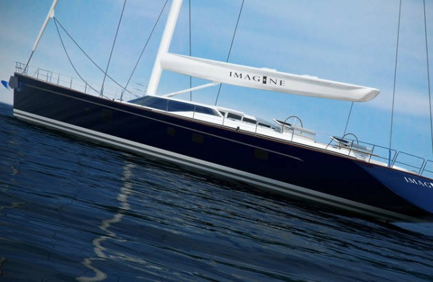 View large version of image: Alloy Yacht's Sailing Yacht Imagine II